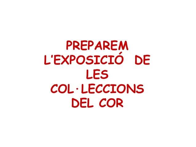 PREPAREM L'EXPOSICIÓ DE LES COL·LECCIONS DEL COR