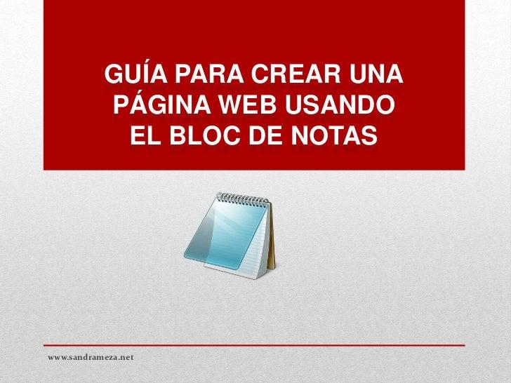 Crear una pagina web con bloc de notas Crear website