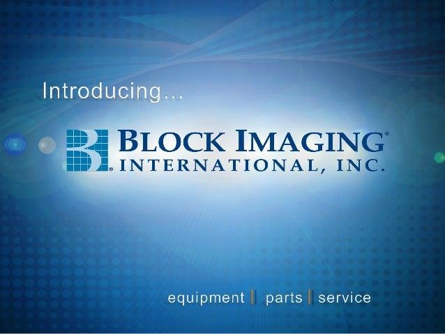 Block Imaging Intro