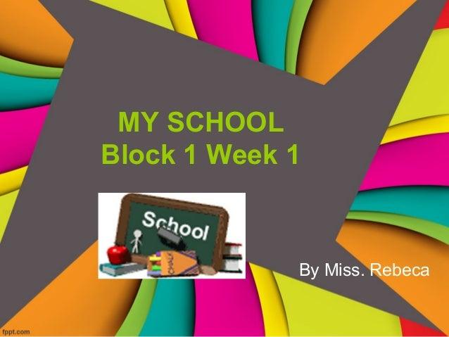 Block 1 week 1 4th