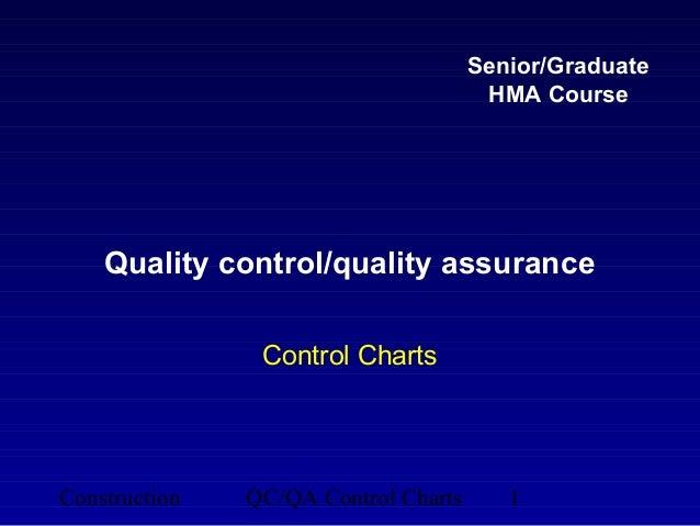 Senior/Graduate                                       HMA Course    Quality control/quality assurance                Contr...