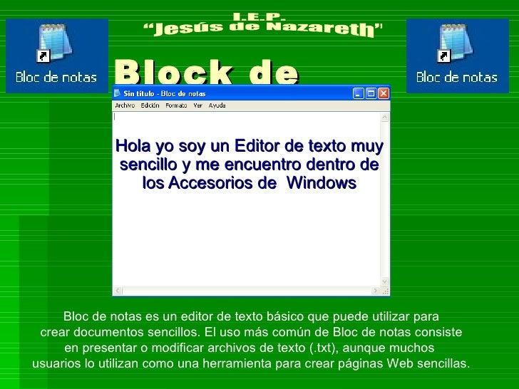 Block de notas y wordpad