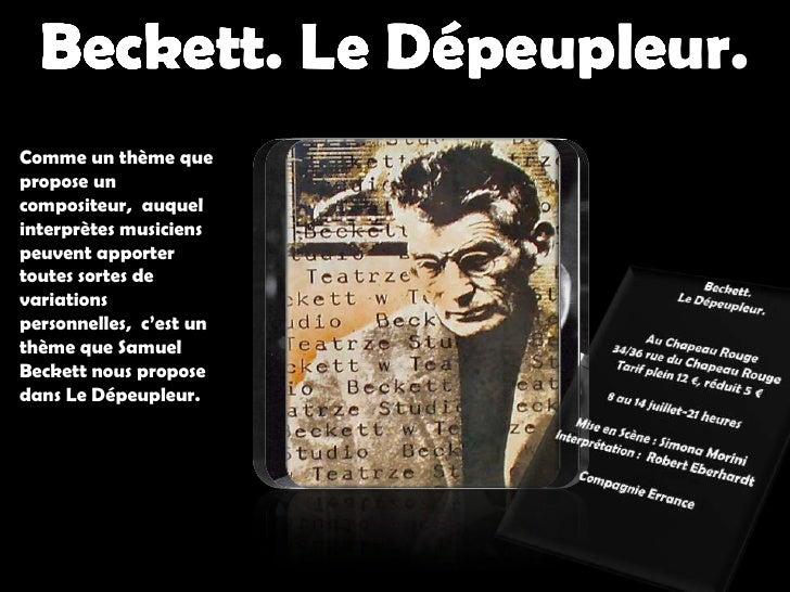 Beckett. Le Dépeupleur. <br />Beckett. LeDépeupleur.<br />Beckett.Le Dépeupleur.<br />Beckett.Le Dépeupleur.<br />Beckett....