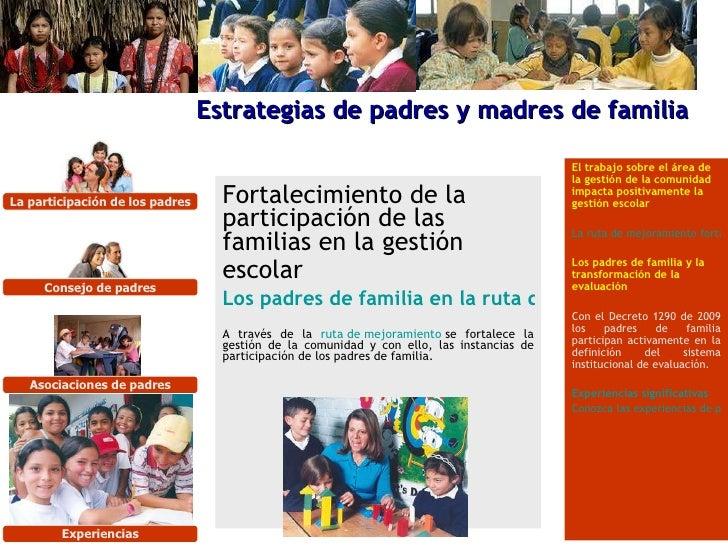 Fortalecimiento de la participación de las familias en la gestión escolar   Los padres de familia en la ruta del mejoramie...