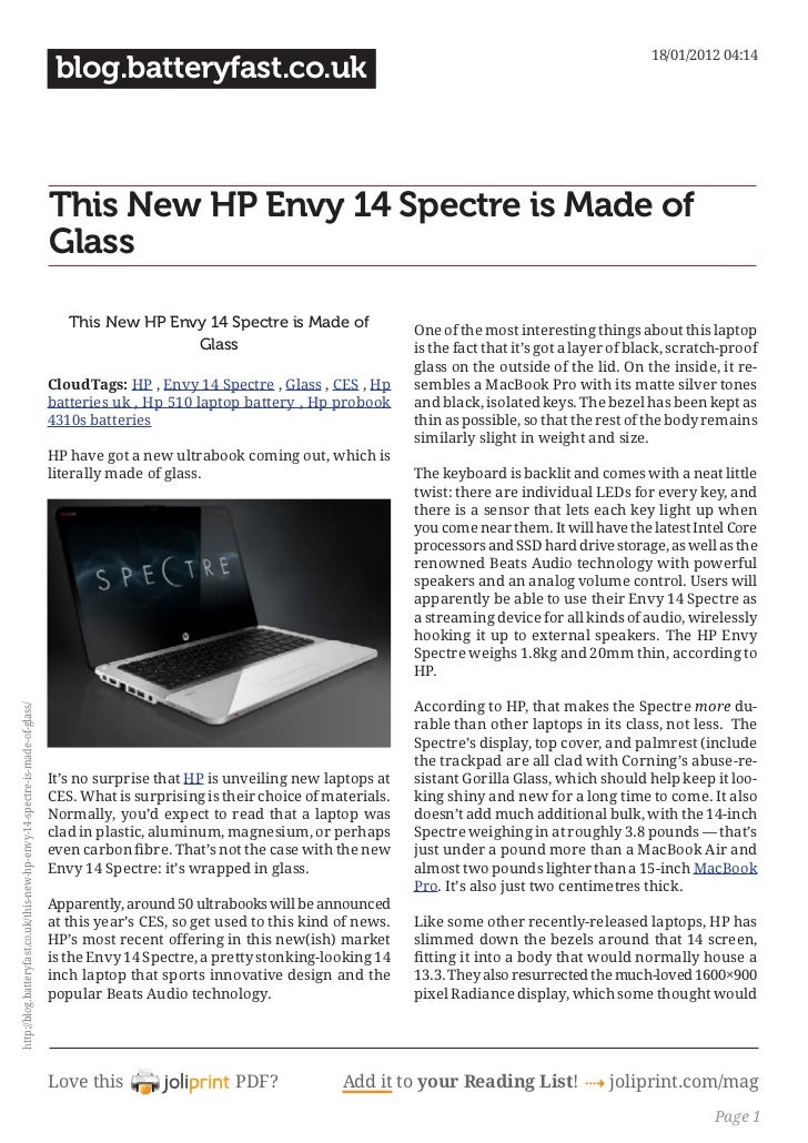 Blog.batteryfast.co.uk this-new-hp-envy-14-spectre-is-made-of-glass
