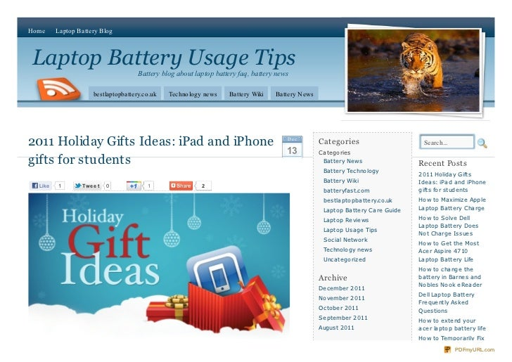 2011 Holiday Gifts Ideas: iPad and iPhone gifts for students