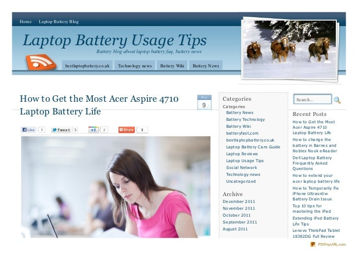 How to Get the Most Acer Aspire 4710 Laptop Battery Life