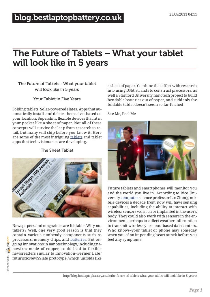 Blog.bestlaptopbattery.co.uk - The Future of Tablets – What your tablet will look like in 5 years