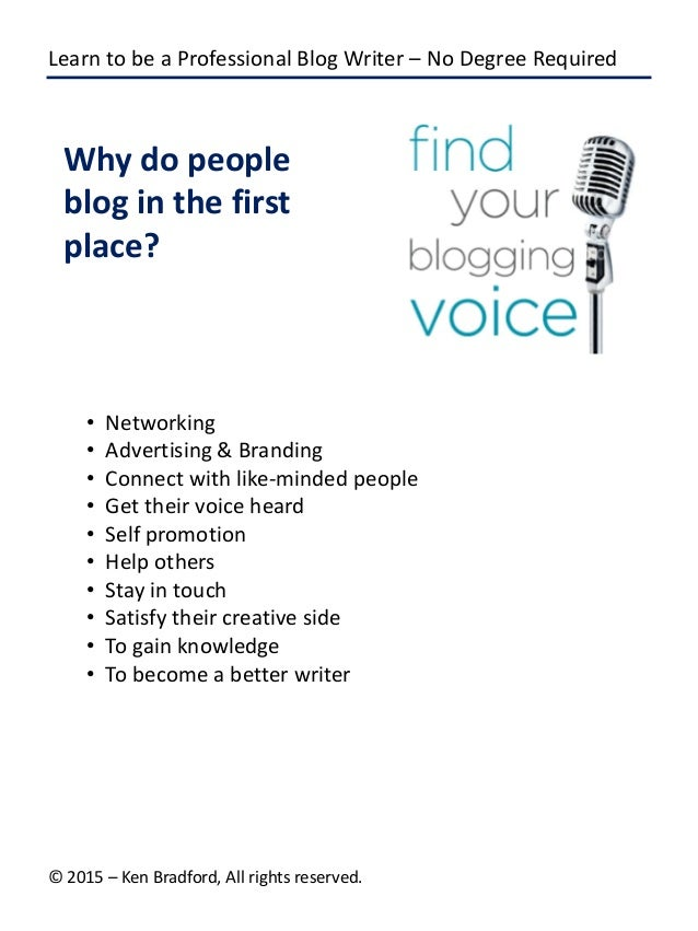 Online writing blogs