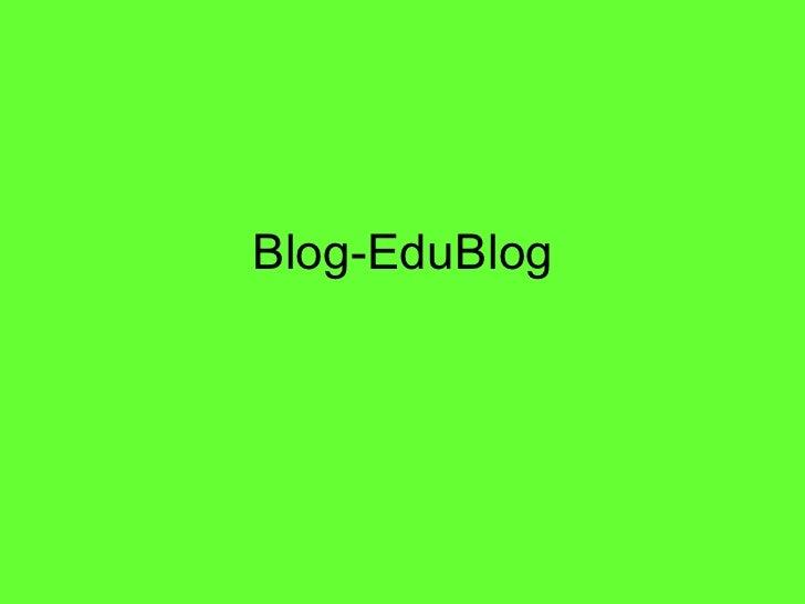 Blog-EduBlog