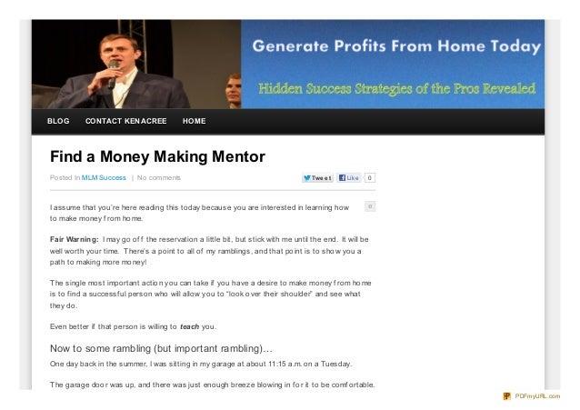 Find a Money Making Mentor