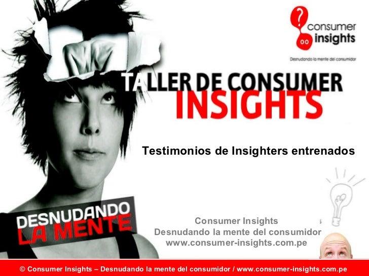 Insighters del Taller de Consumer Insights