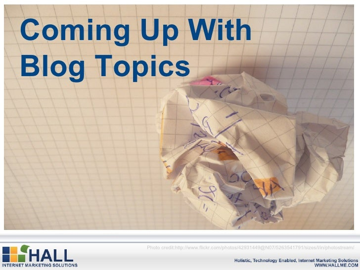 Coming Up With Blog Topics