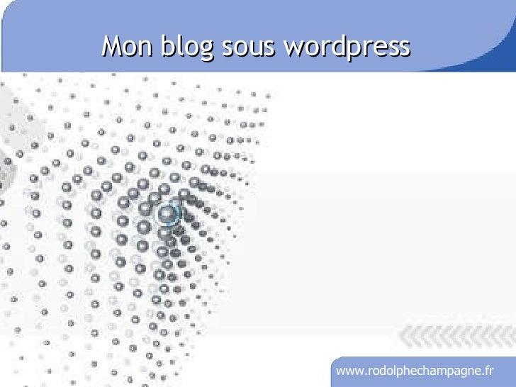 Mon blog sous wordpress