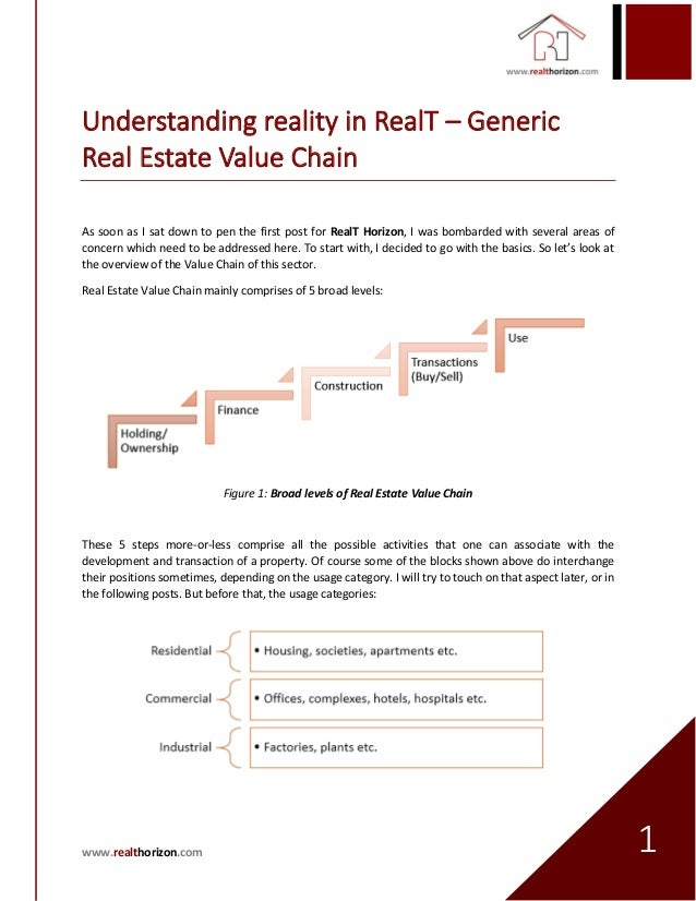 value chain analysis real estate In this paper, based on porterpsilas value chain model, a case study of two real estate companies in hangzhou was conducted by the comparison of the two cases, the value added process and some.
