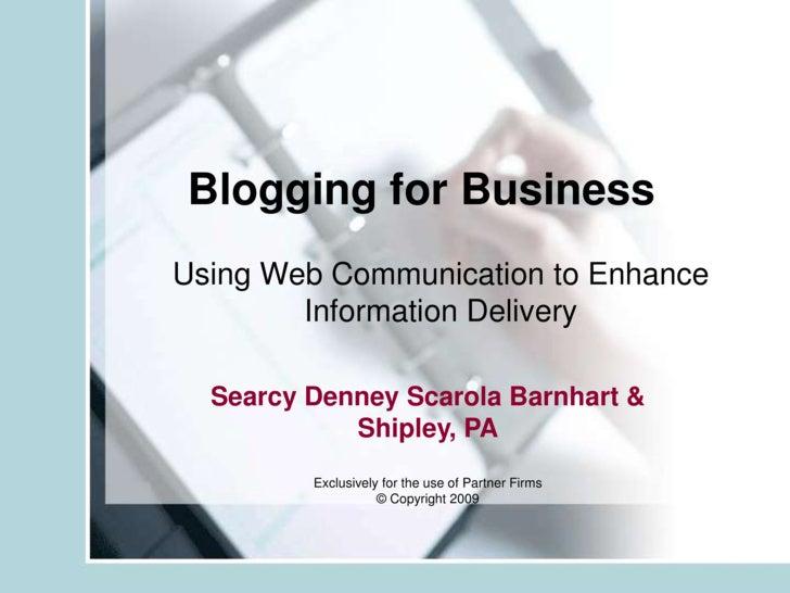 Blog 101 For Law Firms Presentation