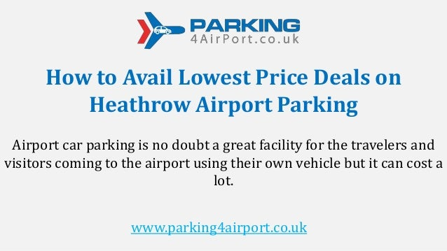 Great late deals airport parking