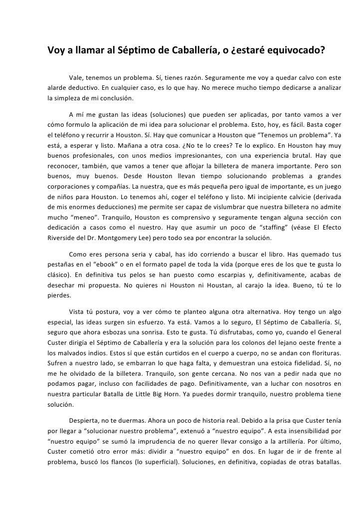 Blog 7 El SéPtimo De CaballeríA