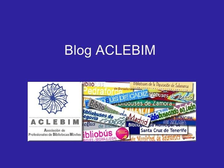 Blog ACLEBIM