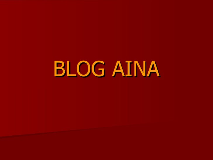 Blog aina