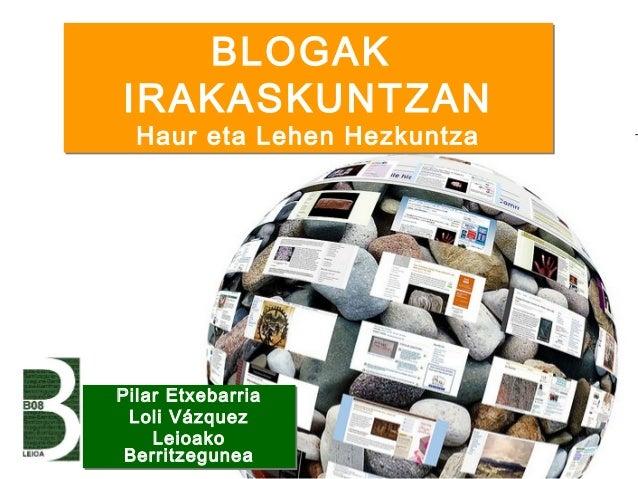 Blogak Haur eta Lehen Hezkuntzan