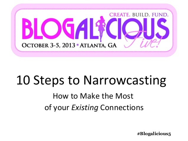 10 Steps to Narrowcasting #Blogalicious5 How to Make the Most of your Existing Connections