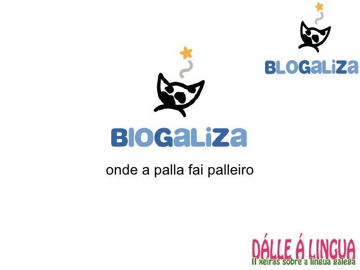 Blogaliza: servizos e infraestructuras