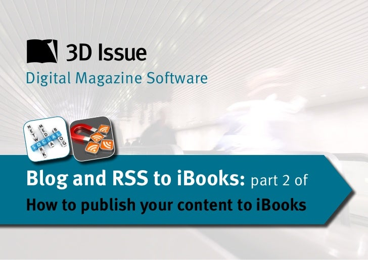 Blog and rss to i books part 2