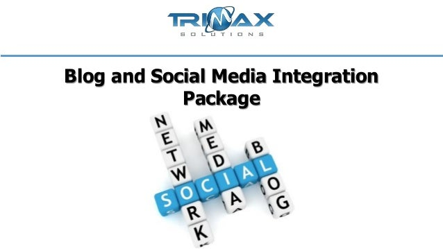 Blog and social media integration package