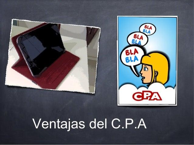 Ventajas del C.P.A