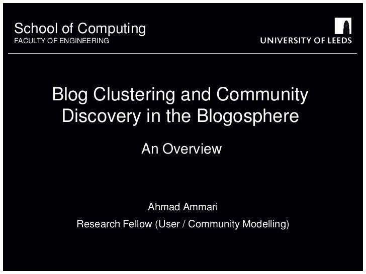 Blog clustering