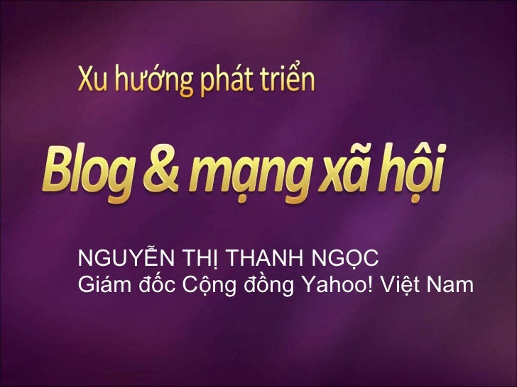 Blog community conference YH