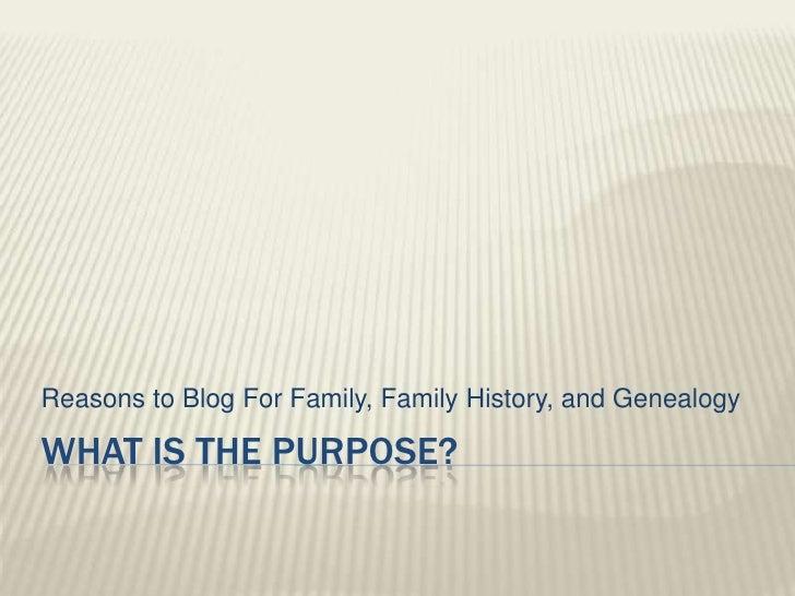 Blog for genealogy class full powerpoint
