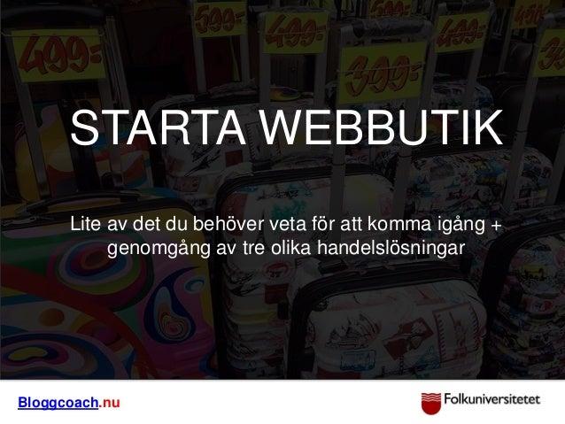 STARTA WEBBUTIK?