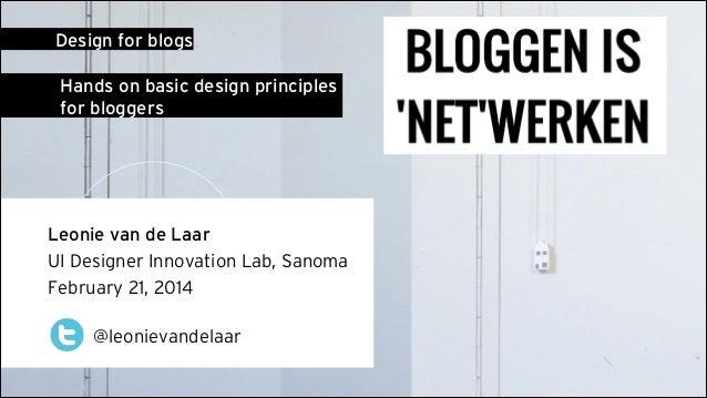 Design for Blogs