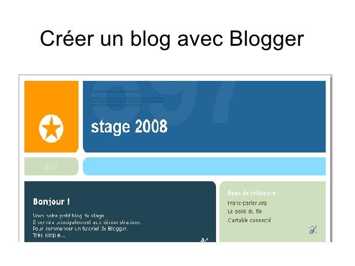 Créer un blog avec Blogger