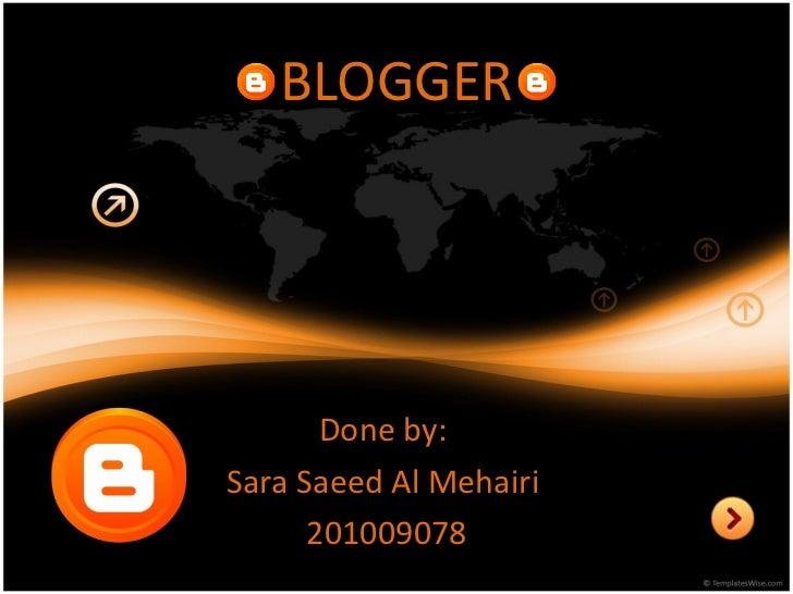 Blogger - final