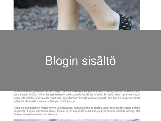 Blogin sisältö
