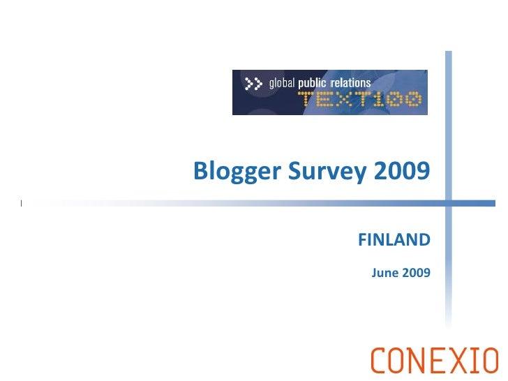 Global Blogger Survey 2009: Finland