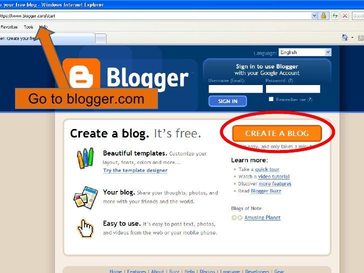 Go to blogger.com