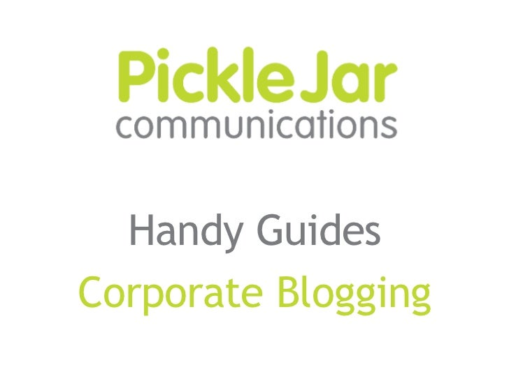 Handy Guides Corporate Blogging