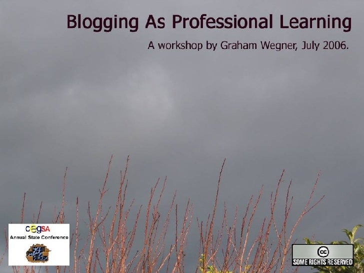 Blogging As Professional Learning