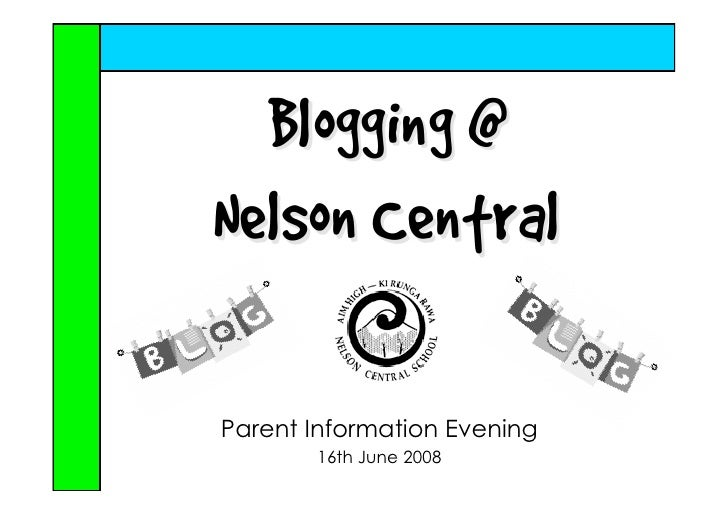 Blogging At Nelson Central