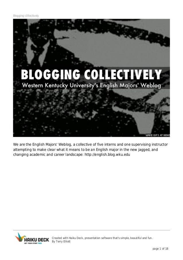 Blogging c0llectively: the EMW @ WKU