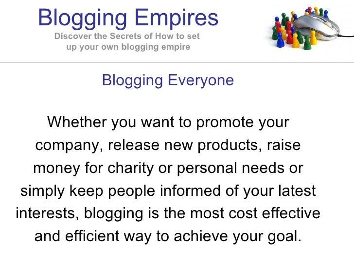Blogging  Empires
