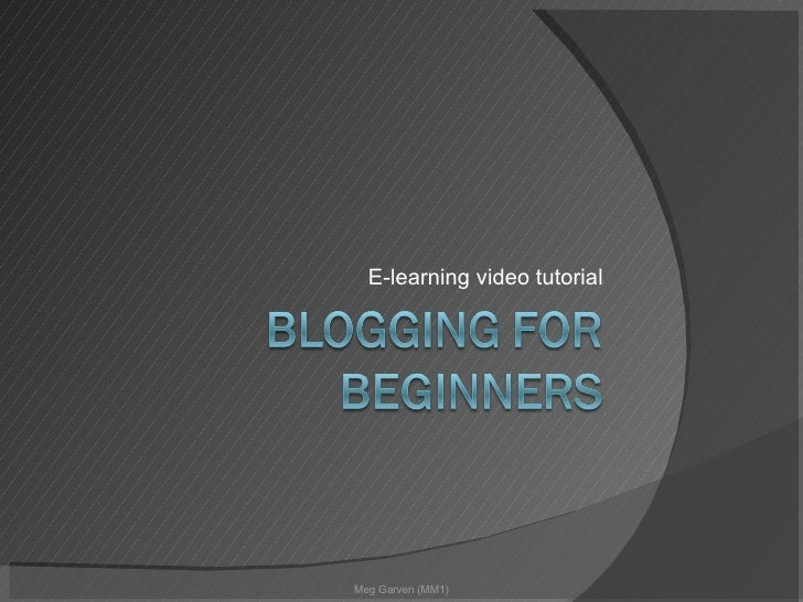 E-learning video tutorial Meg Garven (MM1)