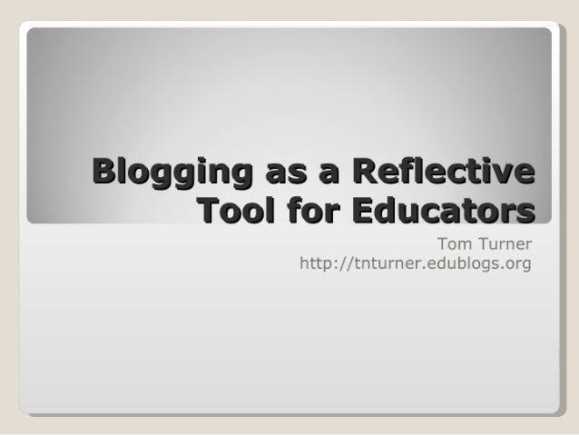 Blogging for Educators