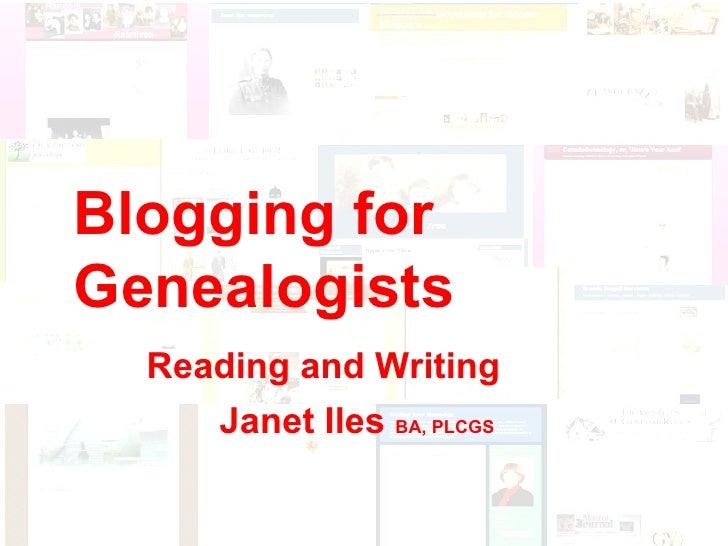 Blogging for Genealogists (revised)