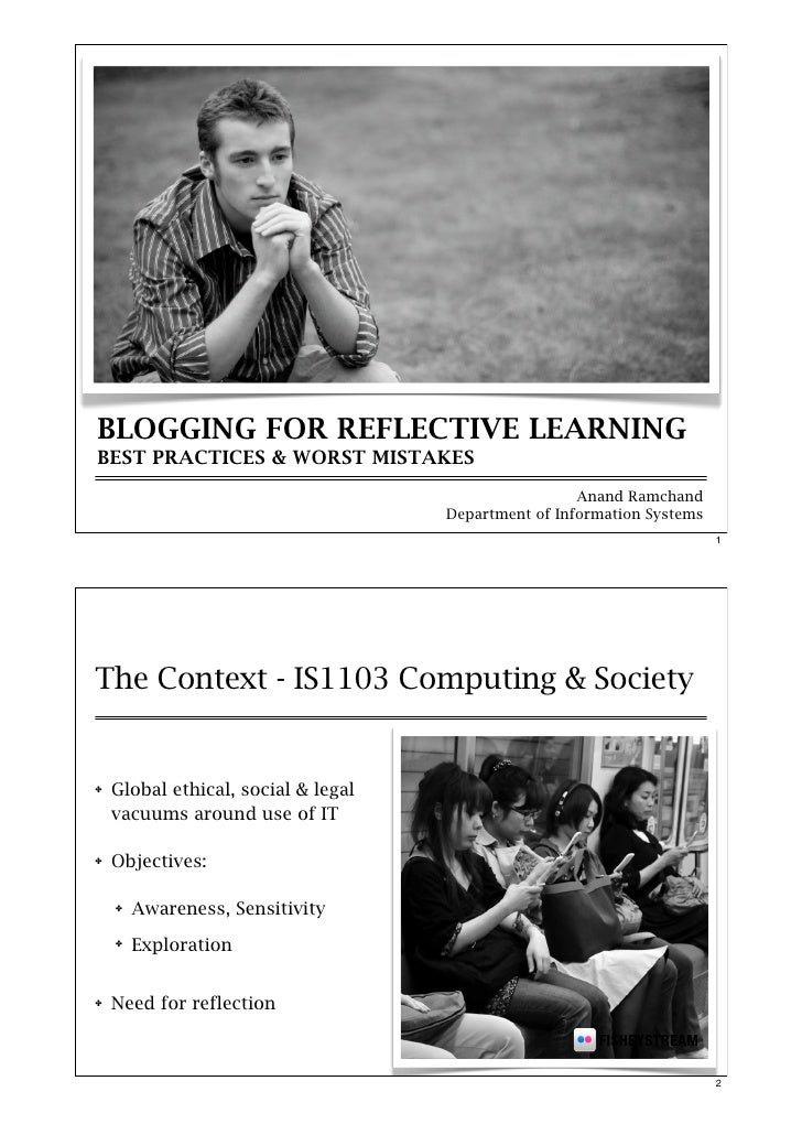 Blogging for reflective learning: Best practices and worst mistakes