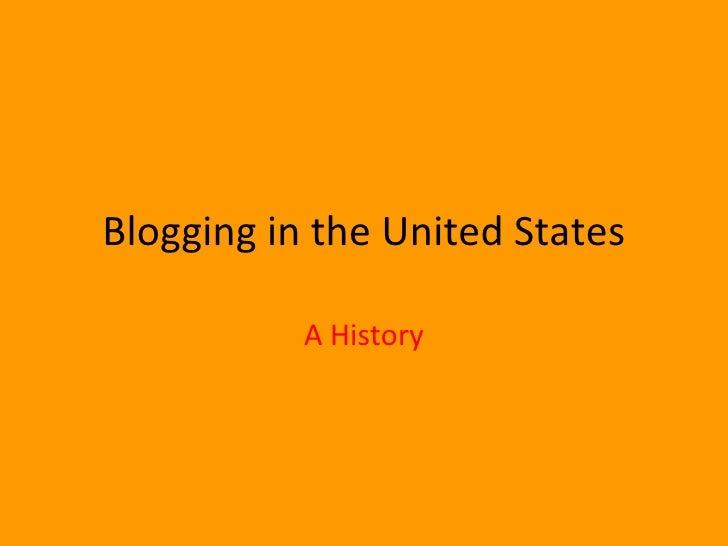 Blogging In The United States